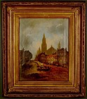 "Henry Foley, painting, ""View of Strasburg"""