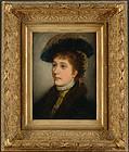 Max von Schmaedel, oil, Portrait of Miss Davenport
