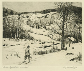 "William Joseph Schaldach, ""Chores - Lyons Plain, CT"""
