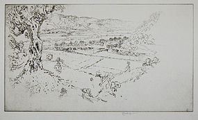 """Joseph Pennell, etching, """"Olympia"""""""