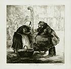 """Albert Webb, etching, """"Warming Up,"""" 1937"""