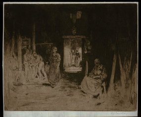"David Y. Cameron, etching, ""The Wine Farm,"" 1896"