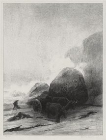 "Albert W. Barker, lithograph, ""Beyond Paul Point,"" 1930"