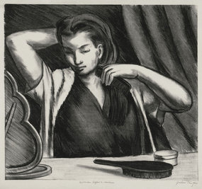 "Julius Tanzer, Lithograph, ""Woman Before a Mirror"""