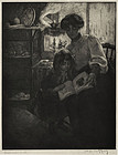 """Manuel Robbe, etching with aquatint, """"L'Album d'Image"""""""