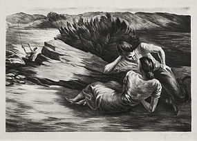 "Peppino Mangravite, Litho, ""Summer Vacation,"" 1938"