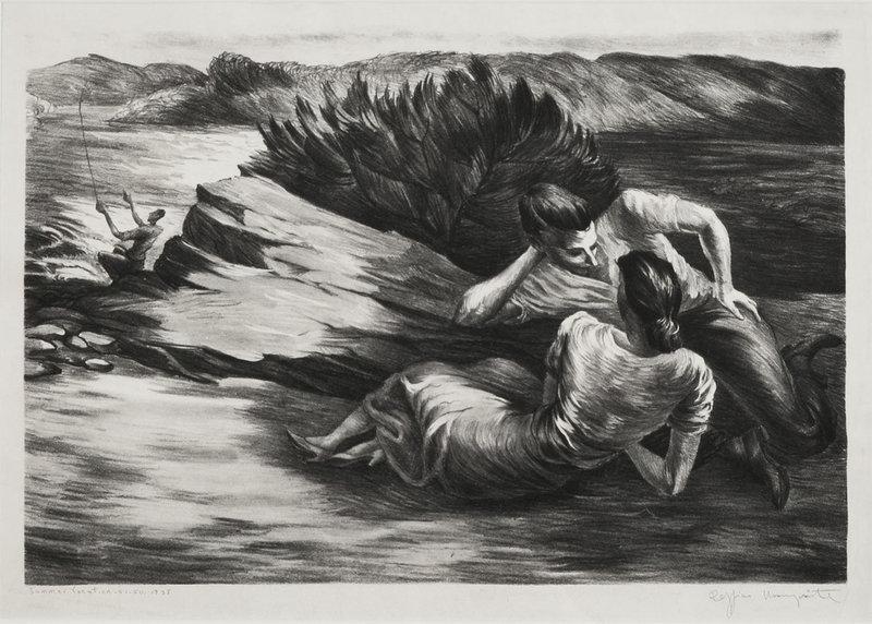 "Peppino Mangravite, Litho, ""Summer Vacation,"" 1938"
