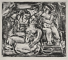 "Max Weber, Lithograph, ""Beautification,"" 1932"