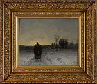 "Franҫois B de Blois, oil on panel ""The Road Home"""