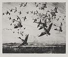"Frank Benson, Etching, ""Morning Flight,"" 1918"