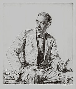 "Sir Frances Dodd, Etching, ""Charles March Gere,"" c 1927"