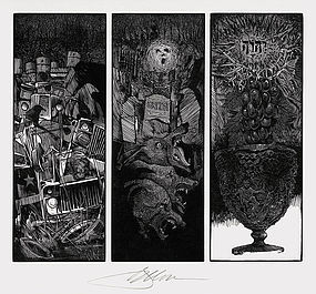 "Barry Moser, Wood Engraving, ""Timing Devices"""