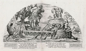 "Nicolas Mignard, Etching ""Odysseus and the Sirens"" 1637"