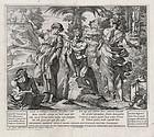 "Nicolas Mignard, Etching ""Athena Advises Odysseus"" 1637"
