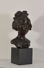 Salvatore C Scarpitta, Bronze, Portrait of a Young Girl