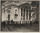 """Joseph Pennell, Etching, """"Girard Trust Building, No.II"""""""