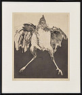 "Leonard Baskin, Etching, ""Bird"" c. 1960s"