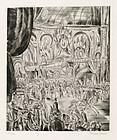 """Hermine David, Etching, """"Le Concours Hippique"""", 1927"""