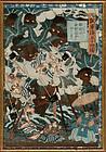 """Utagawa Yoshitsuya, """"""""Harunaga-Ko and the Angry Sotetsu"""", 1864"""