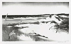 """Stow Wengenroth, Lithograph, """"The Far Shore"""", 1957"""