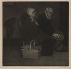 "William Strang, mezzotint, ""Evening"", 1891"