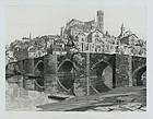 "John Taylor Arms, etching, ""Limoges"" 1932"