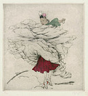 "Elyse Ashe Lord, etching, ""Spainsh Dancer"""