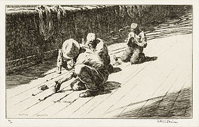 "Arthur J. T. Briscoe, etching, ""Caulkins"" 1928"
