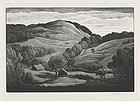 "Thomas W Nason, wood engraving, ""Midsummer"", 1954"