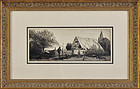 """John Taylor Arms, etching, """"The Pig Pen"""" 1920"""