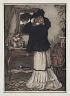 "Manuel Robbe, etching, ""La Parisienne"" 1907"