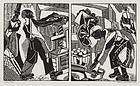 "Helen West Heller, woodblock, ""Cider Press"" 1939"
