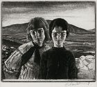 "Gerald Brockhurst, etching, ""West of Ireland"" 1928"