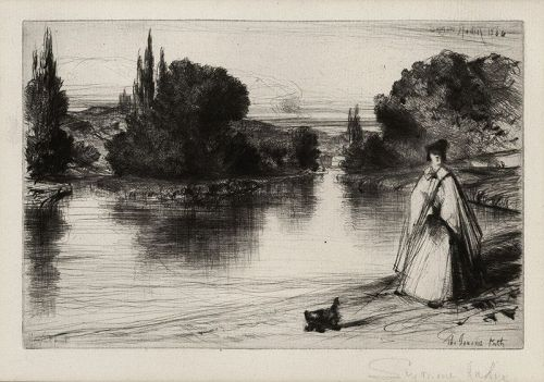 "Sir Francis Seymour Haden, etching, ""The Towing Path"" 1864"