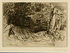Sir Francis Seymour Haden, etching, The Mill-Wheel,  $495.00