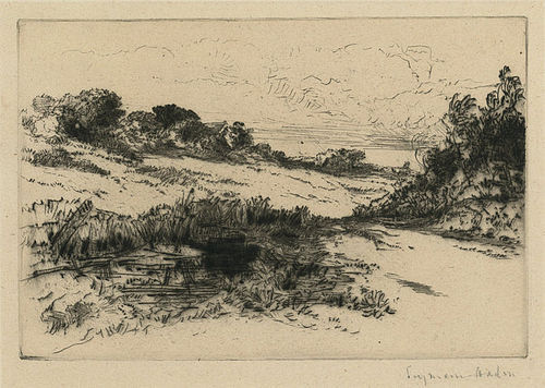 Sir Francis Seymour Haden, etching, Windmill Hill, No. 1, 1877