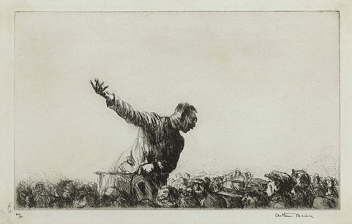 "Arthur J. T. Briscoe, etching, ""The Orator"" 1926, 750.00"