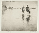 Levon West, etching, English Bay, 1927