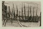 James Abbott McNeill Whistler, etching, Billingsgate, 1859