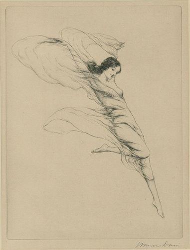 Warren Davis, etching, Springtiime, 1928