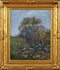 """Summer Landscape"", oil on canvas, Wells Sawyer, c. 1910."