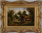 """""""Farmers Cottage"""", oil on canvas, Alfred Vickers, 1862."""