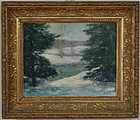"William R. Davis, oil on board, ""Winter"", 20th century"