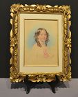 "Fanny Corbaux, Watercolor, ""Portrait of Lady Adelaide"""