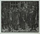 "Albert Abramovitz, Linocut, ""Job Wanted"""