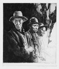 "Arthur R. Middleton Todd, etching, ""Strolling Players"""