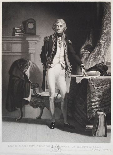 "Henry Sadd, Mezzotint, ""Lord Viscount Nelson, Duke of Bronte"""