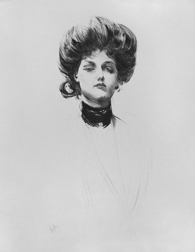"Paul Cesar Helleu, etching, ""Madame Letellier"""