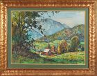 "William Lester Stevens, watercolor, ""Pownal Valley"""
