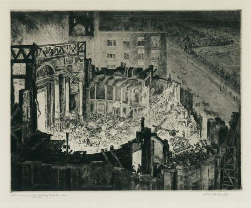 Demolishing the Century Theater,1931